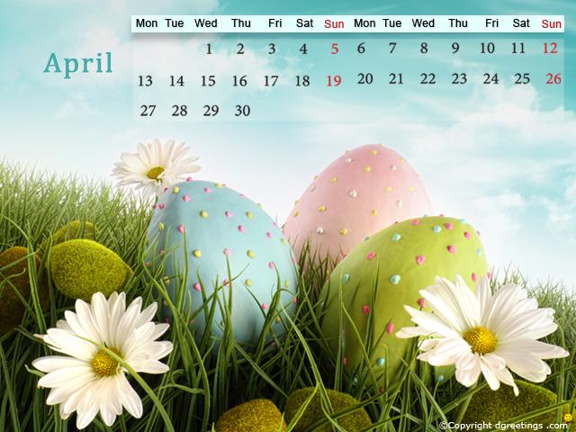 April 2015 Calendar 640x480