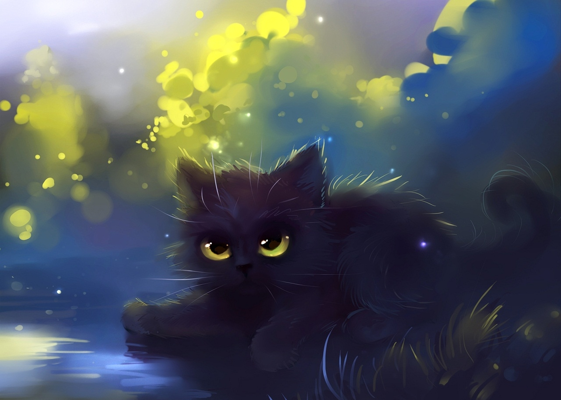 40 cute anime cat wallpaper on wallpapersafari - Cool backgrounds of cats ...