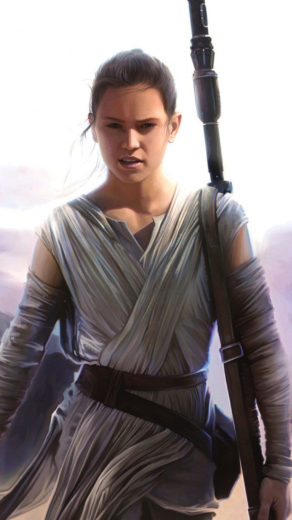 Star wars the force awakens Rey iphone wallpaper HD 6s and 6 576x1024