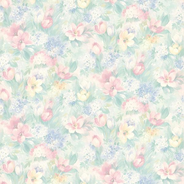 414 75868 Pastel Floral Motif   Georgia   Brewster Wallpaper 600x600