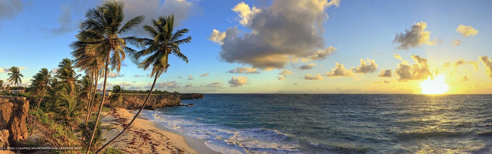 bay beach barbados caribbean caribbean sea desktop wallpaper 1600x500