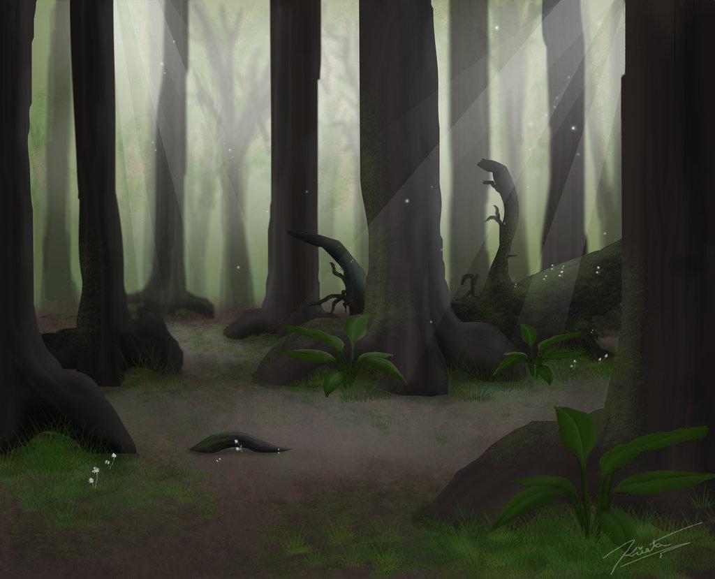 Summer Forest Background by LABINNAK 1024x829