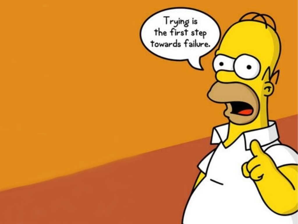 Trying By Homer   Simpsons Cartoons Wallpaper Picture 1024x768
