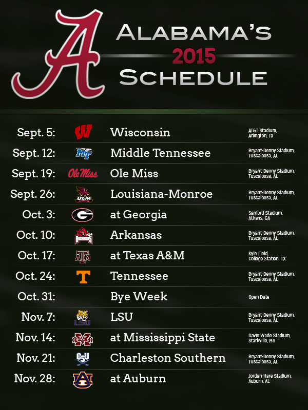 2015 Alabama Auburn football schedules released   Yellowhammer News 600x800