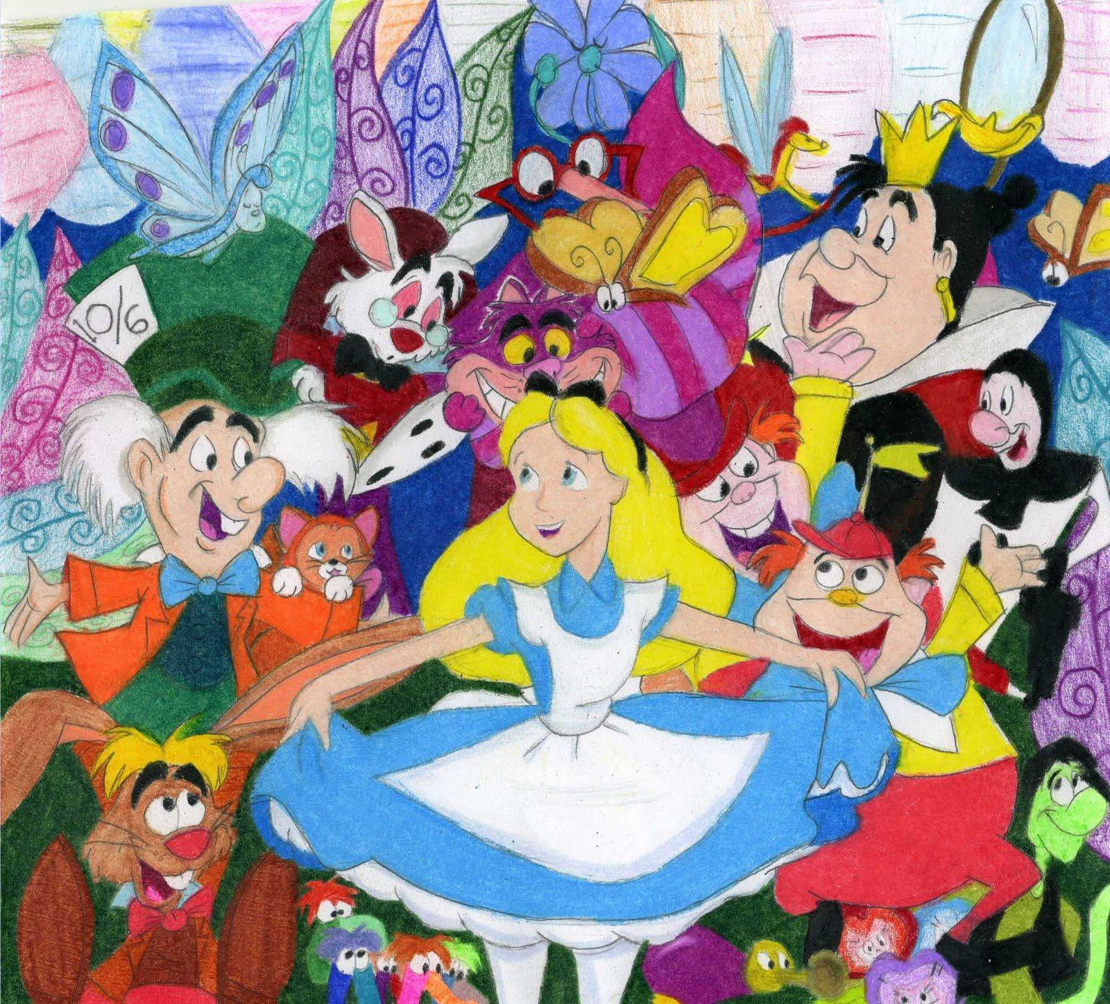 Alice In Wonderland Cartoon Wallpaper Wallpapersafari