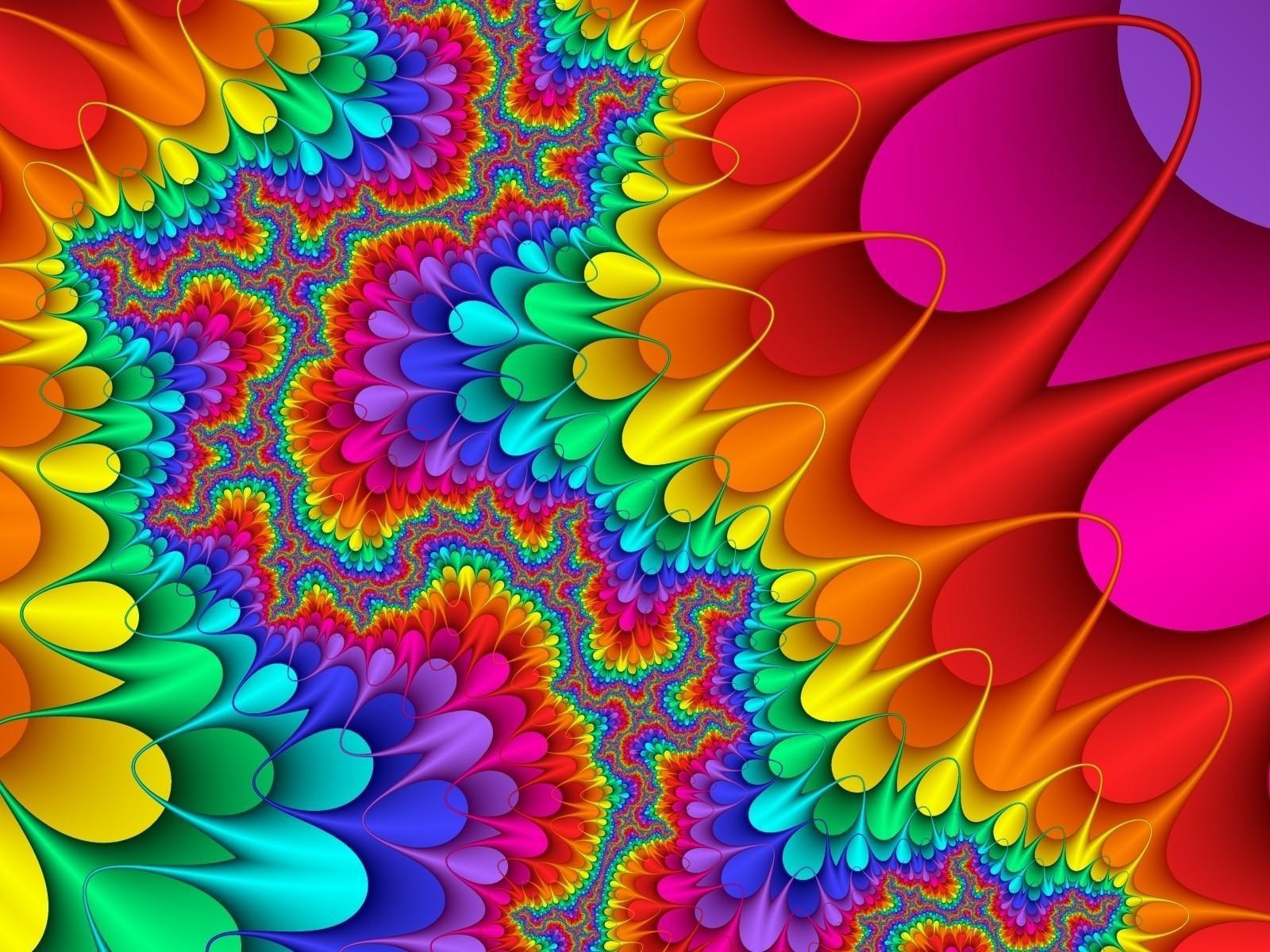 Abstracte achtergrond met een plaatje met alle kleuren van de 1600x1200