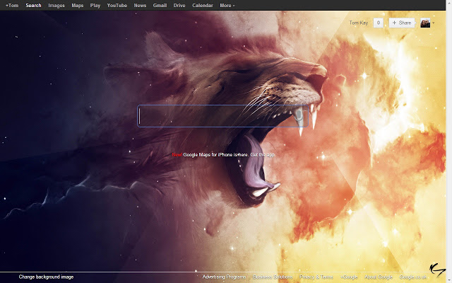 Bring your custom background image back to Google homepage with this 640x400