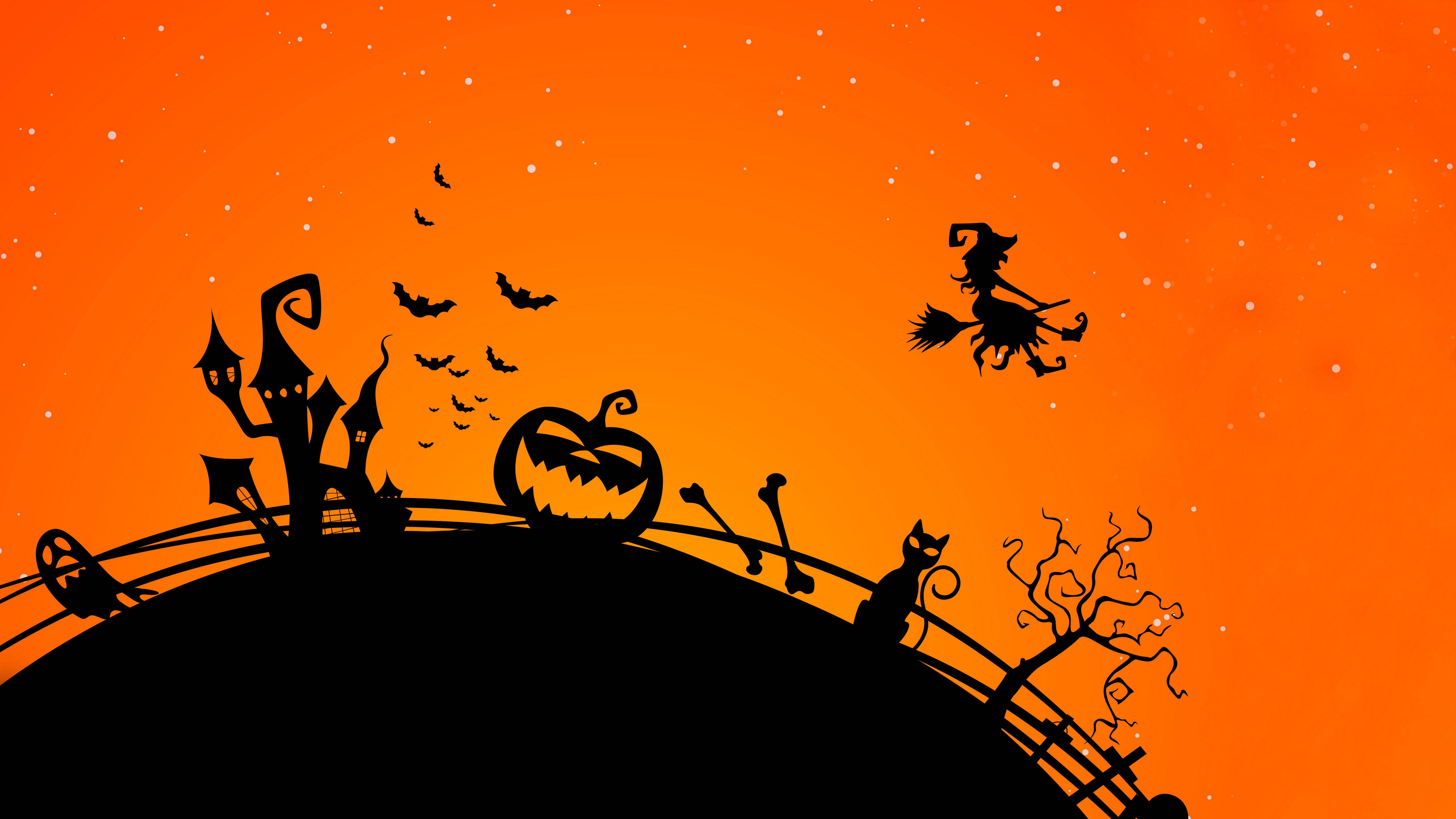 Halloween Backgrounds Download 5120x2880