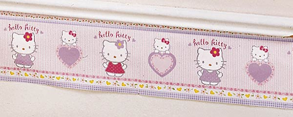Hello Kitty Wallpaper Border 8 inch x 30   Hello Kitty   Lambs Ivy 600x239