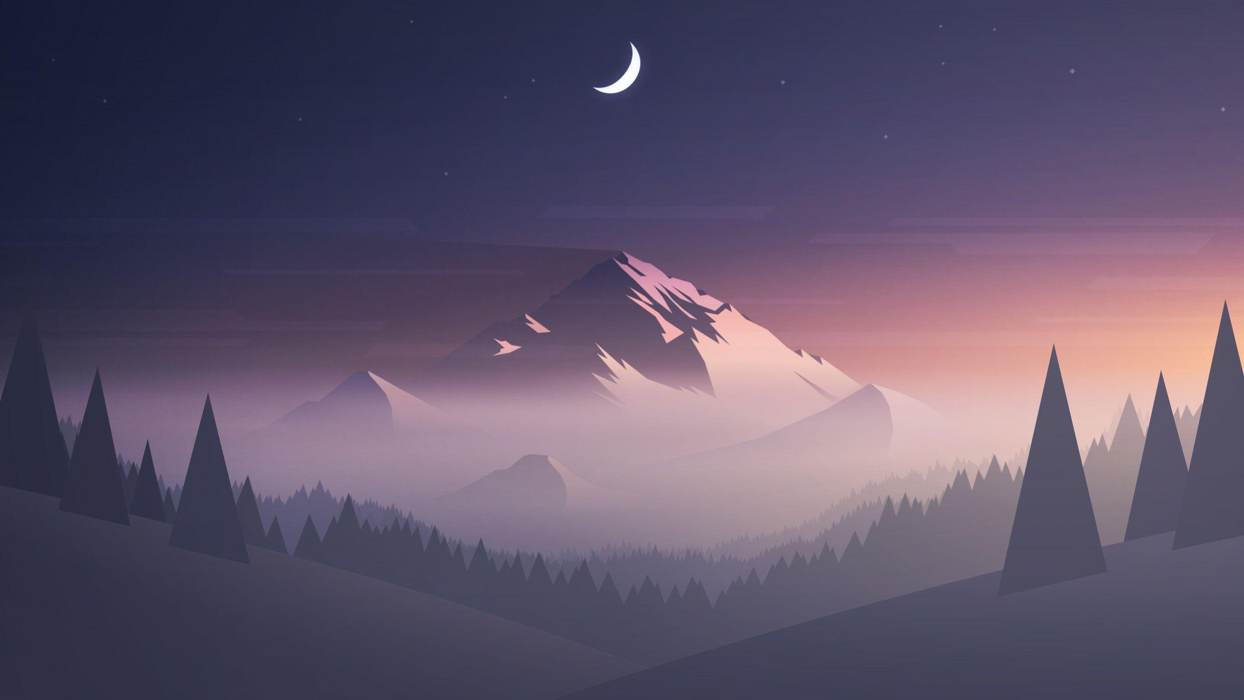 Minimalist Mountain Wallpapers   Top Minimalist Mountain 2484x1398