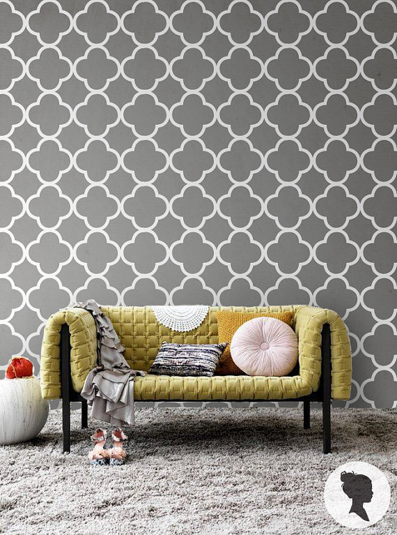 Quatrefoil Pattern Self Adhesive Removable Wallpaper D041 570x767