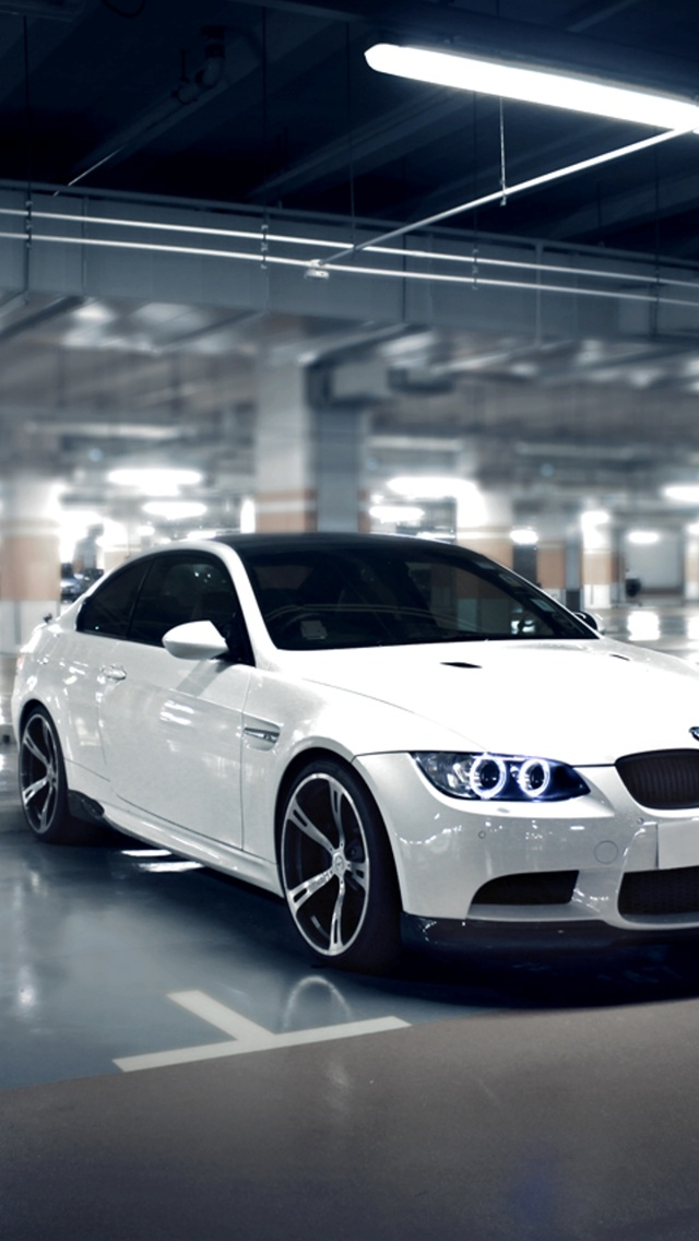 White BMW m3 iPhone 5 Wallpaper 640x1136 640x1136