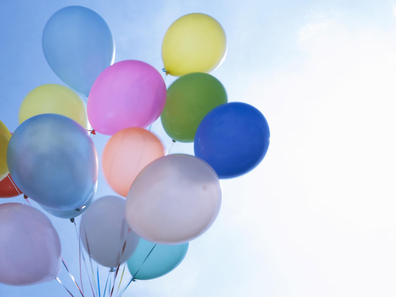 Birthday balloon backgrounds 1600x1200