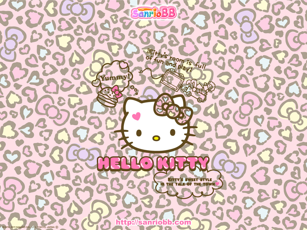 Hello Kitty Wallpaper Pink Kawaii Backgrounds 1024x768