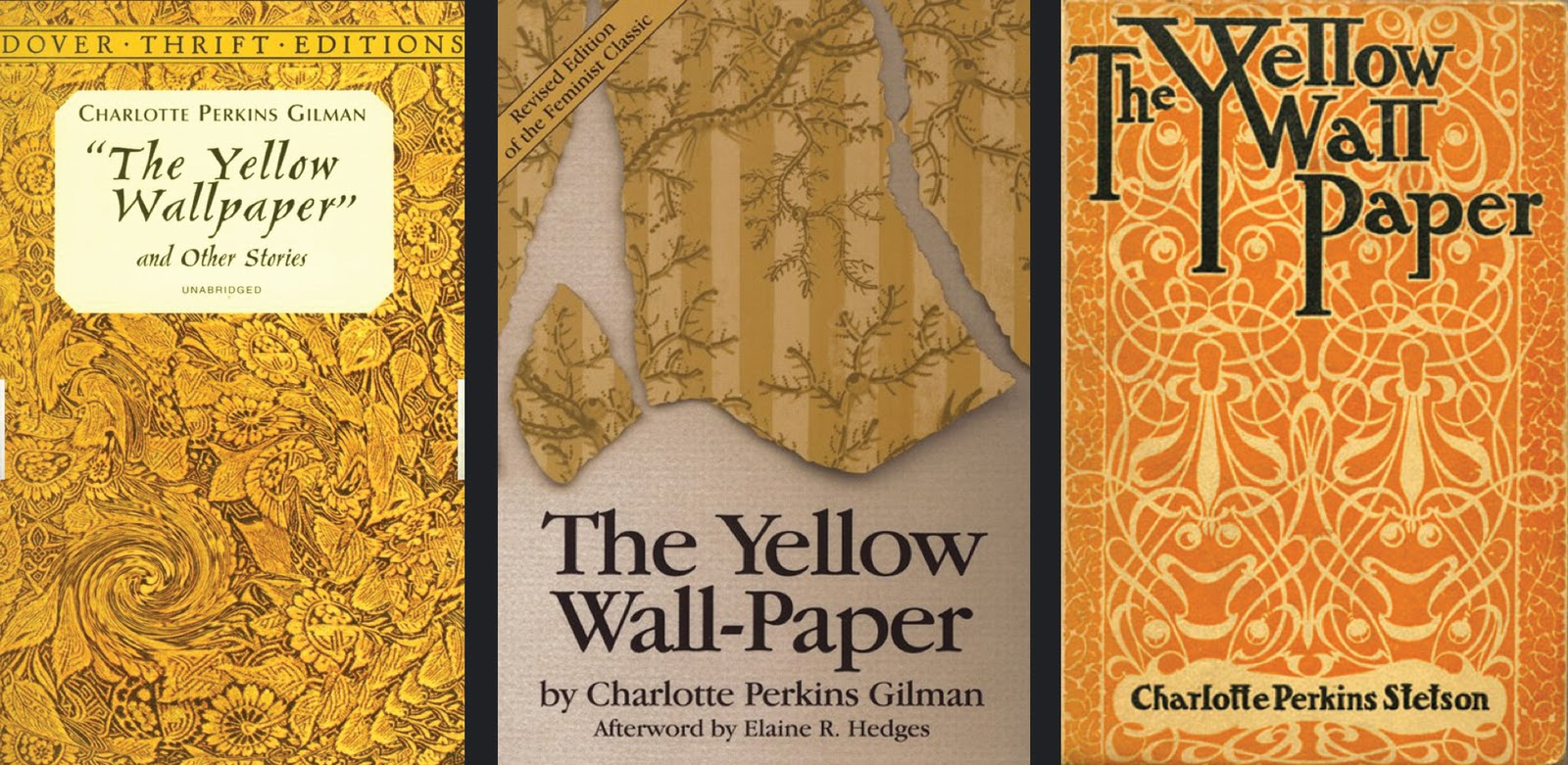 charlotte perkins gilman the yellow wallpaper essays Charlotte perkins gilman's literary work 'the yellow wallpaper' is often considered as an important early work of american feminist literature which illustrates.