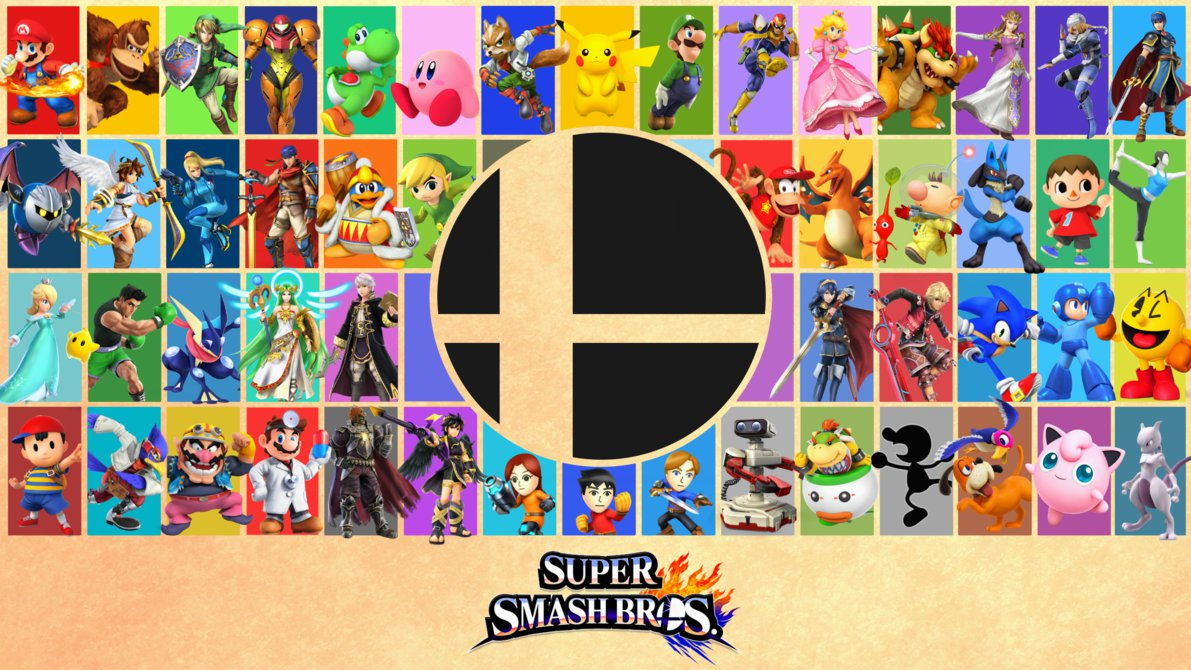 Free Download Super Smash Bros 4 Posterwallpaper By Epicabcdude
