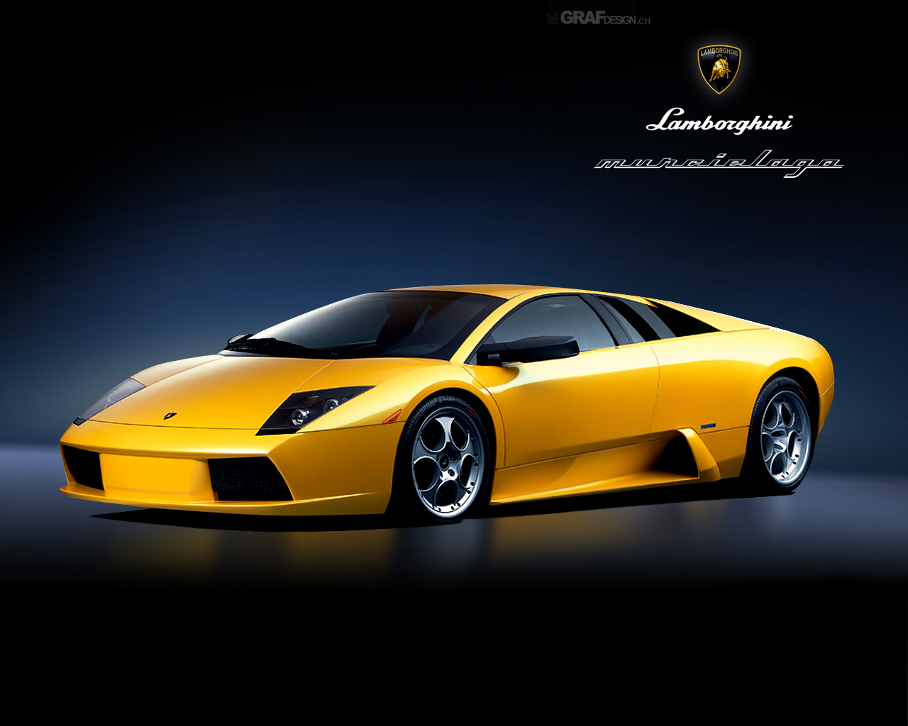 Yellow Lamborghini Murchi Wallpaper Desktop 1280x1024