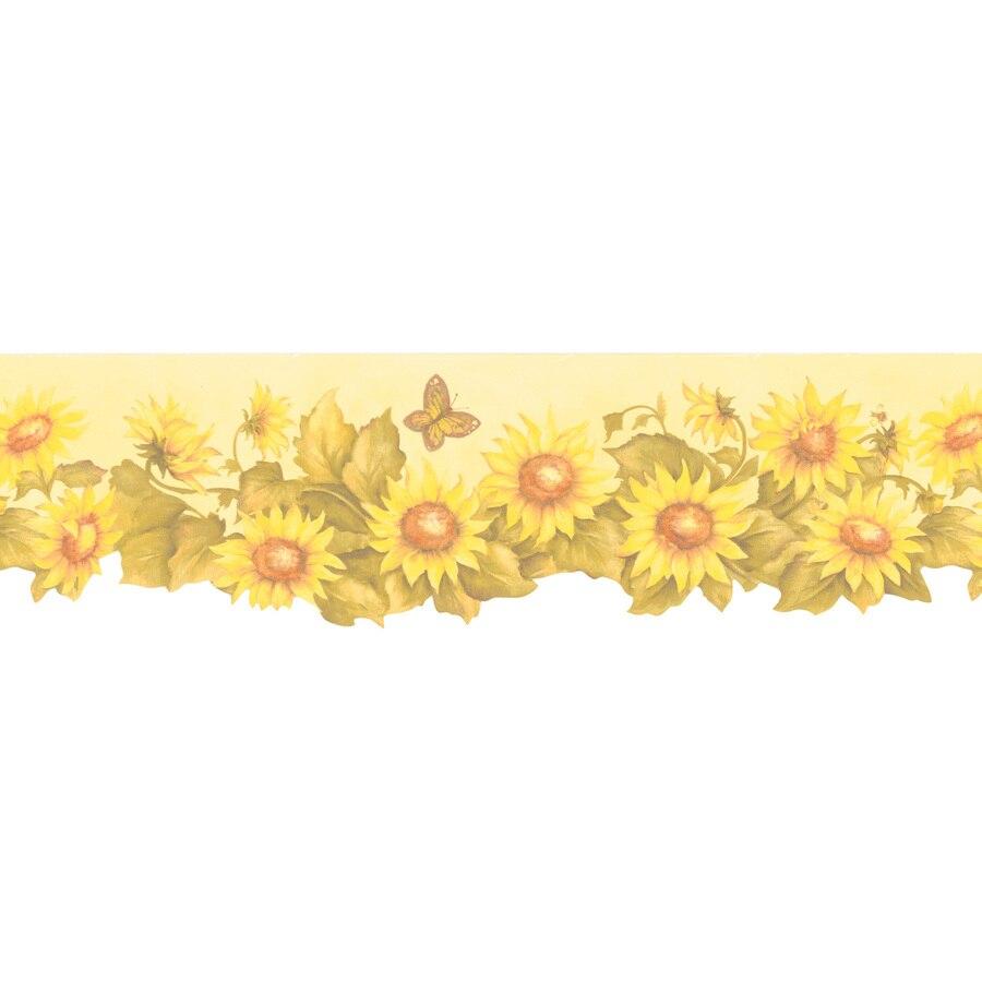 Brewster Wallcovering 6 Sunflower Prepasted Wallpaper Border at 900x900