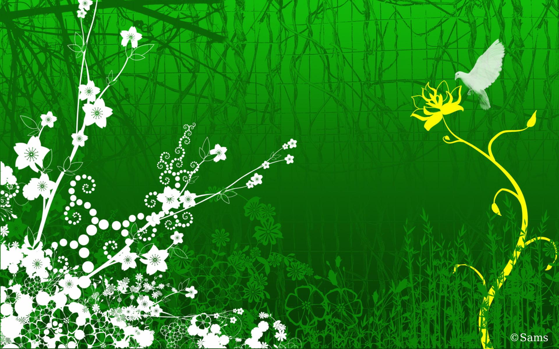 Green Butterfly 1920x1200