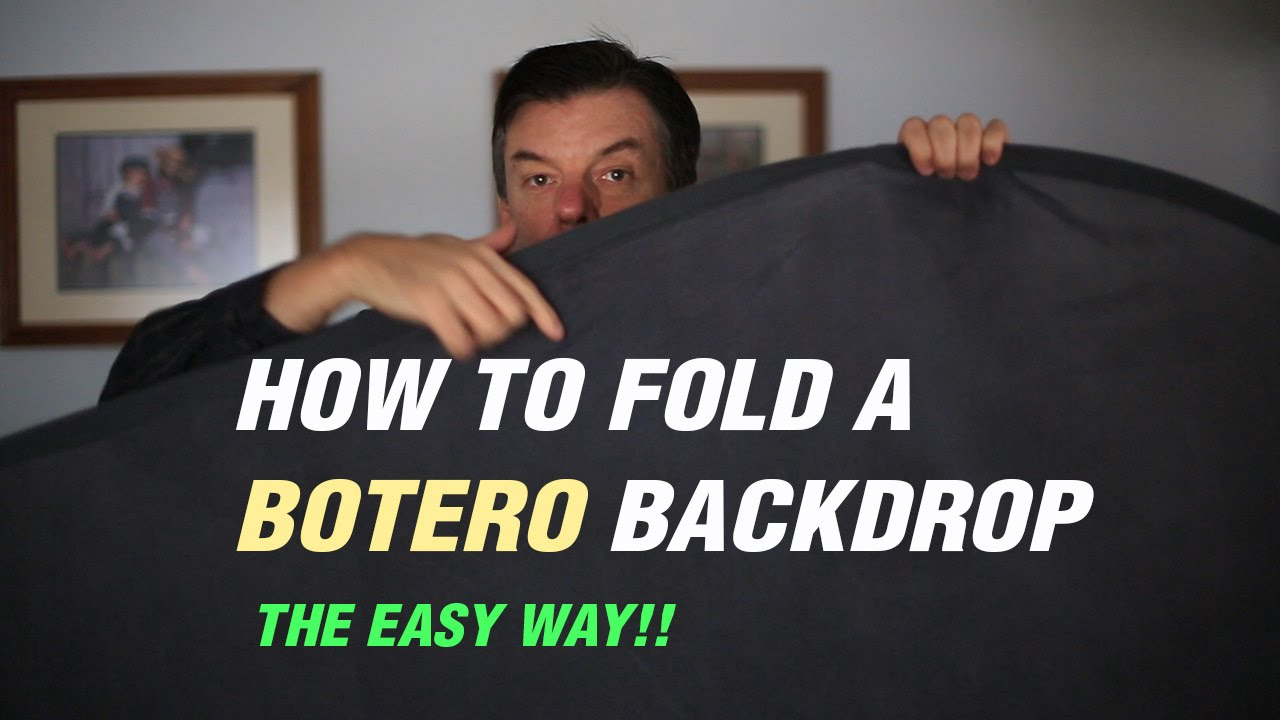 How to fold a collapsible Botero background the easy way 1280x720