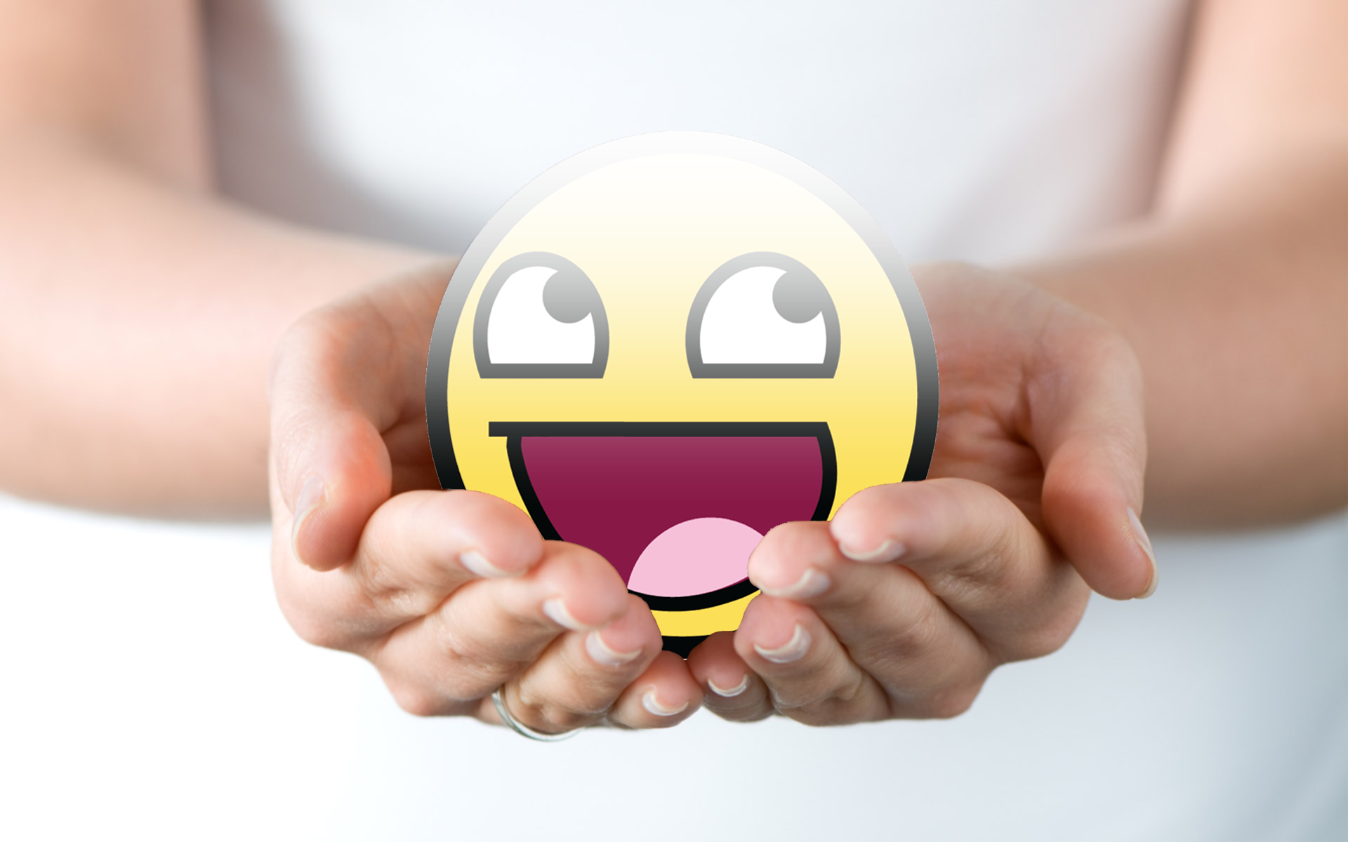 awesome wallpaper smiley art wingedturt1e 1920x1200