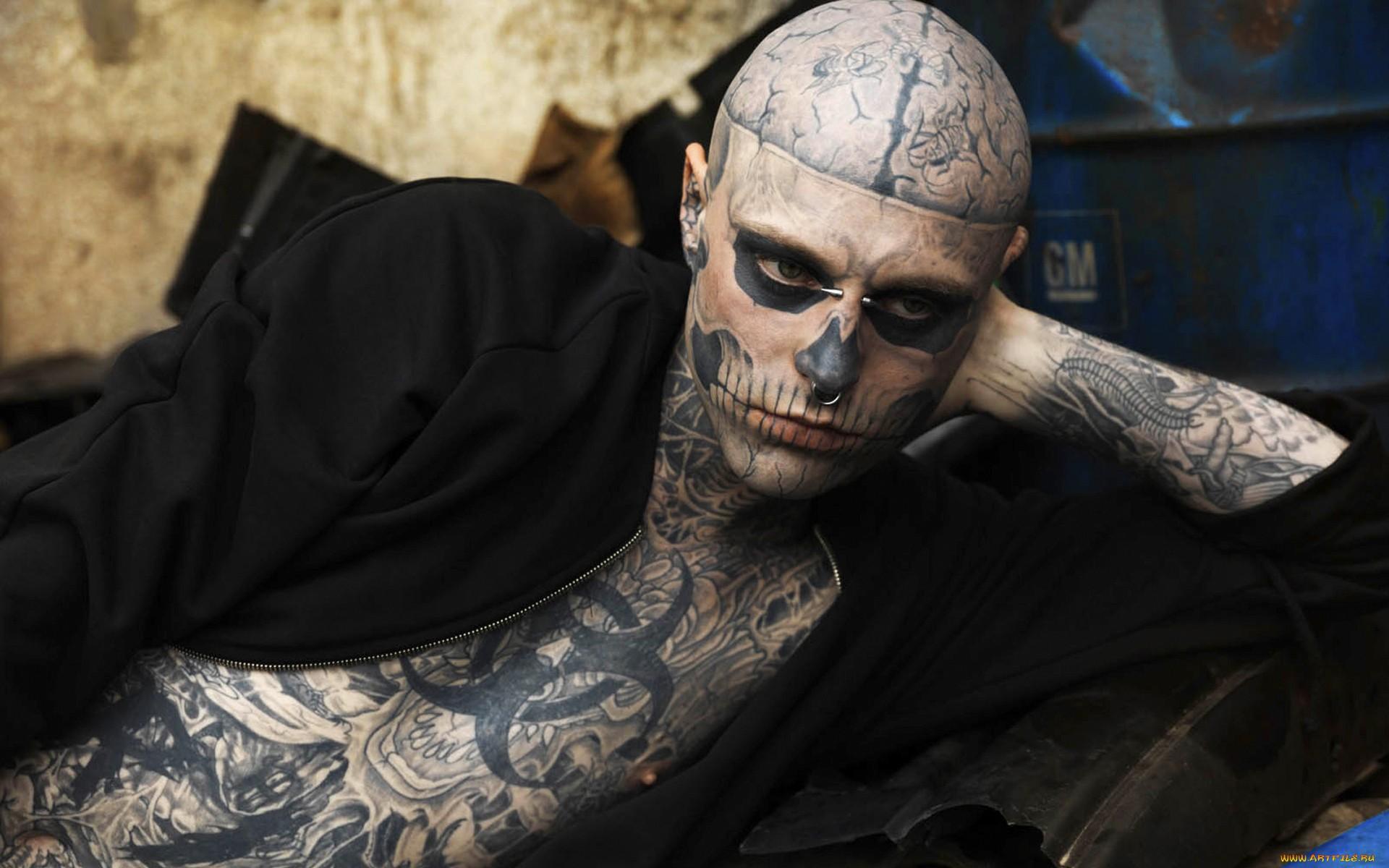 Zombie Boy Tattoo Wallpaper HD 1920x1200 ImageBankbiz 1920x1200