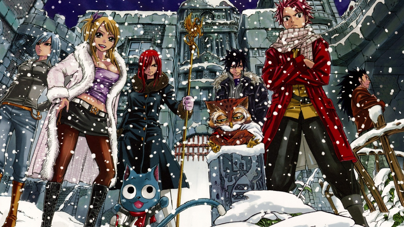 Download Fairy Tail Anime Wallpaper in 1366x768 Resolution 1366x768