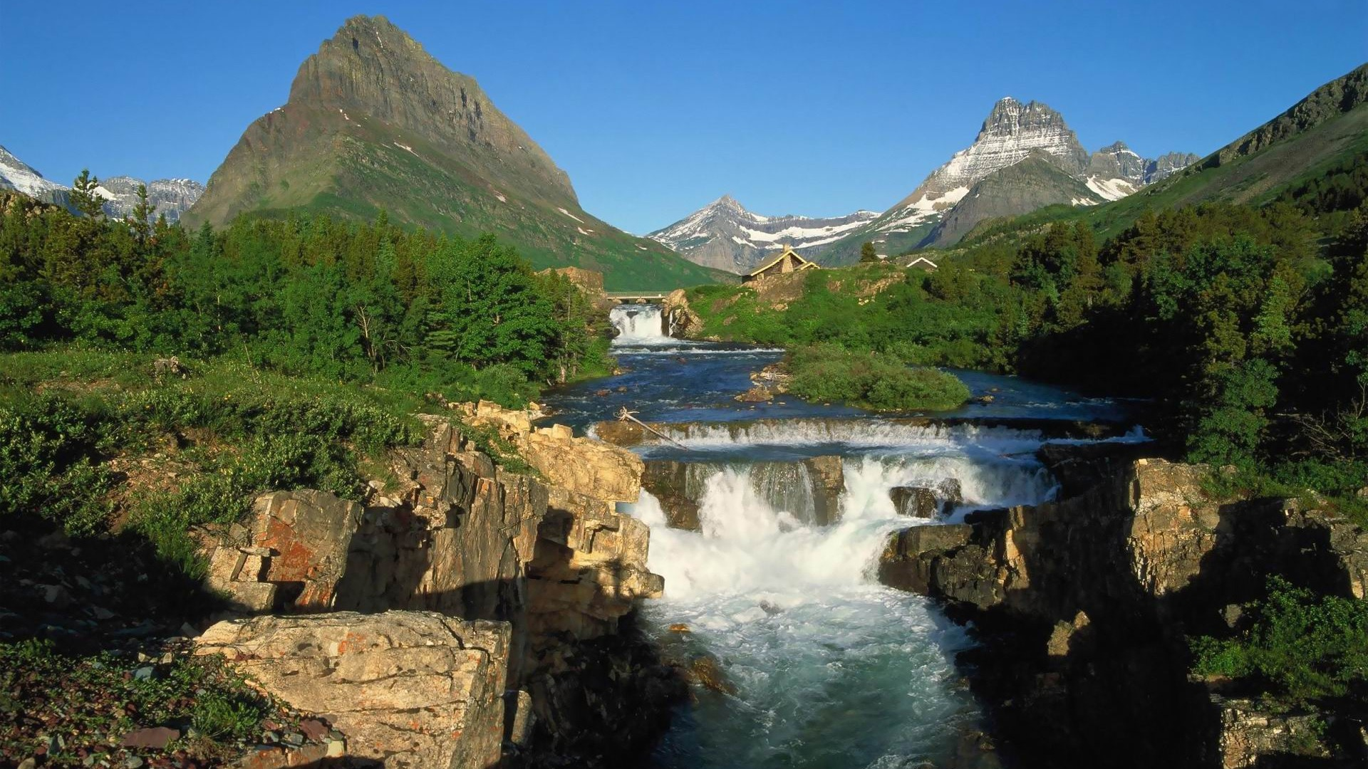 Glacier National Park Landscape Wallpaper Full HD Desktop Wallpaper 1920x1080
