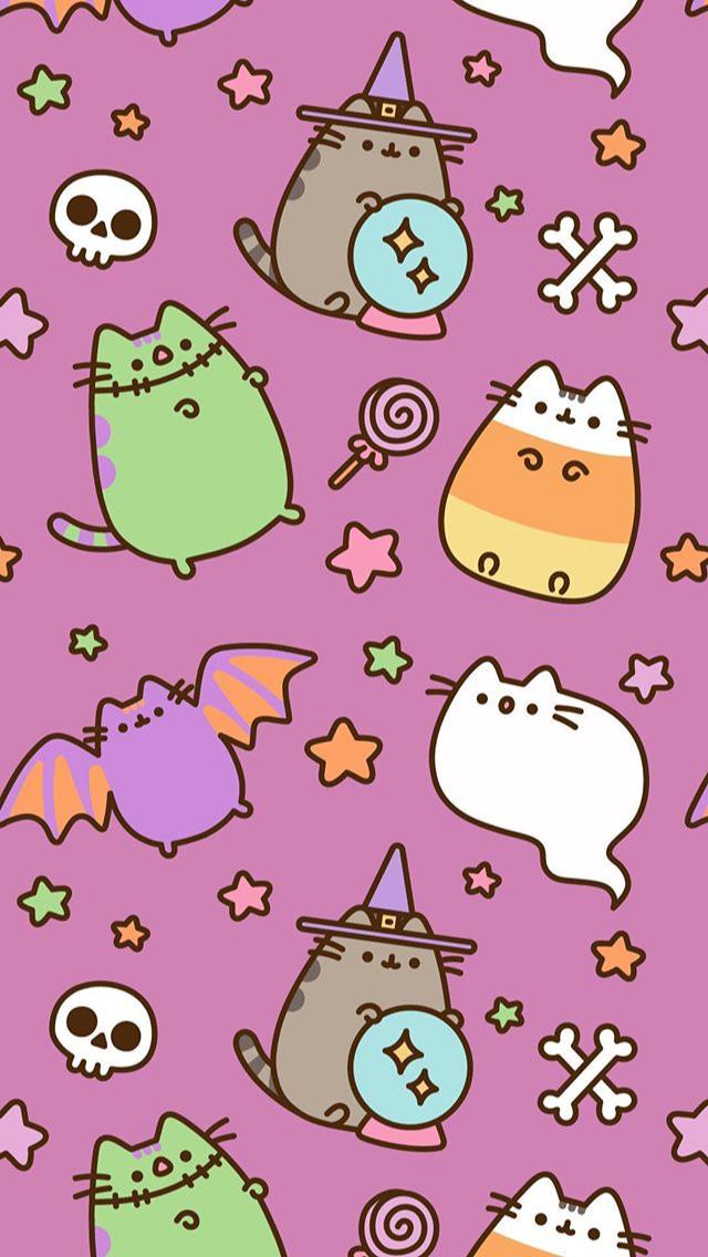Pusheen Halloween Phone WallpaperBackground pusheen pusheencat 640x1136