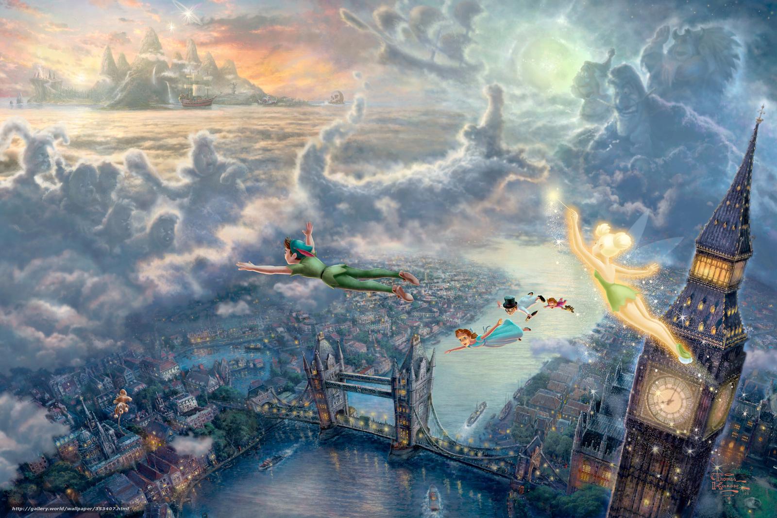 wallpaper Thomas Kinkade Disney Art London desktop wallpaper 1600x1067