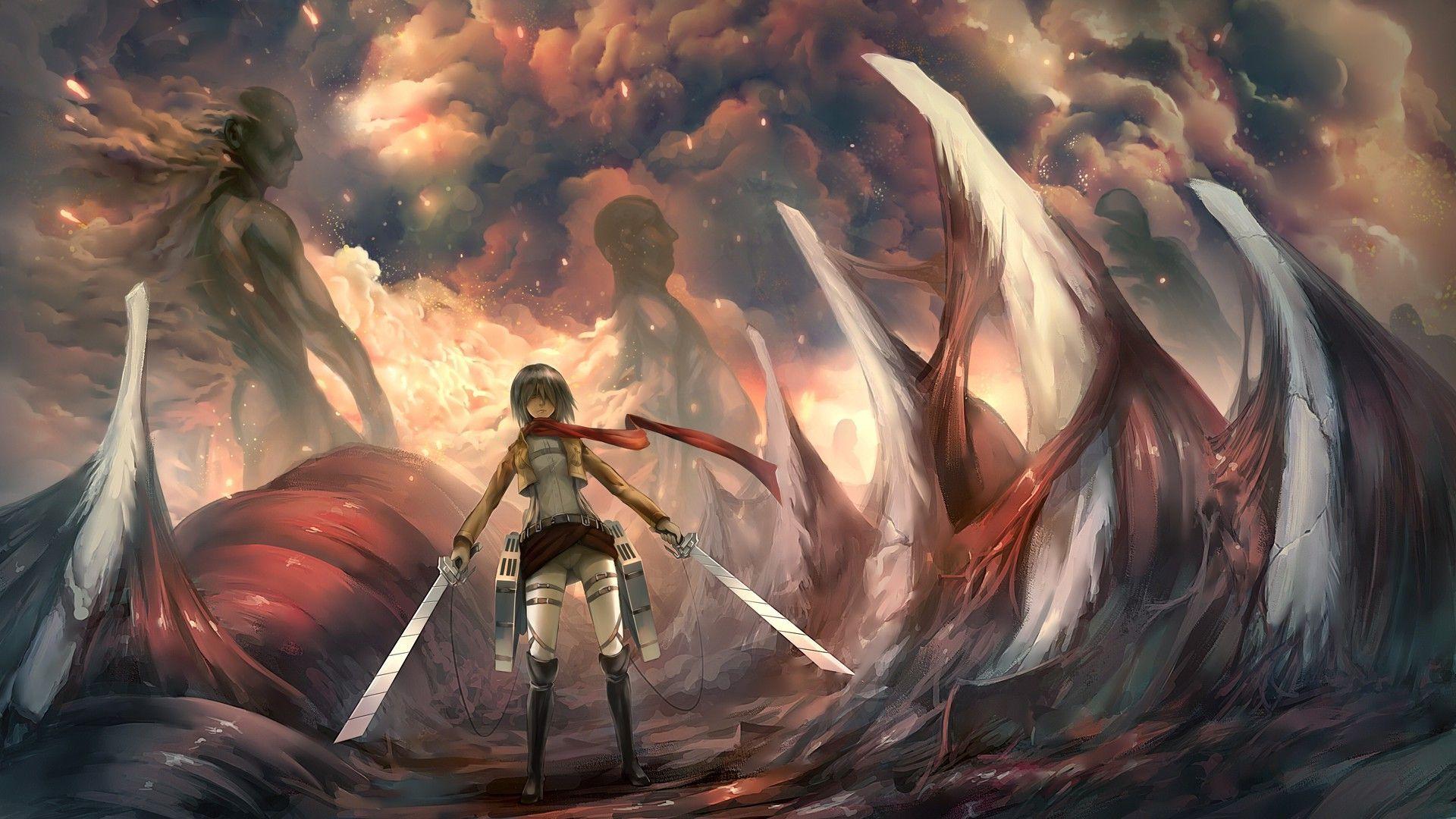 Mikasa Ackerman   Shingeki no Kyojin Wallpaper 1290 1920x1080