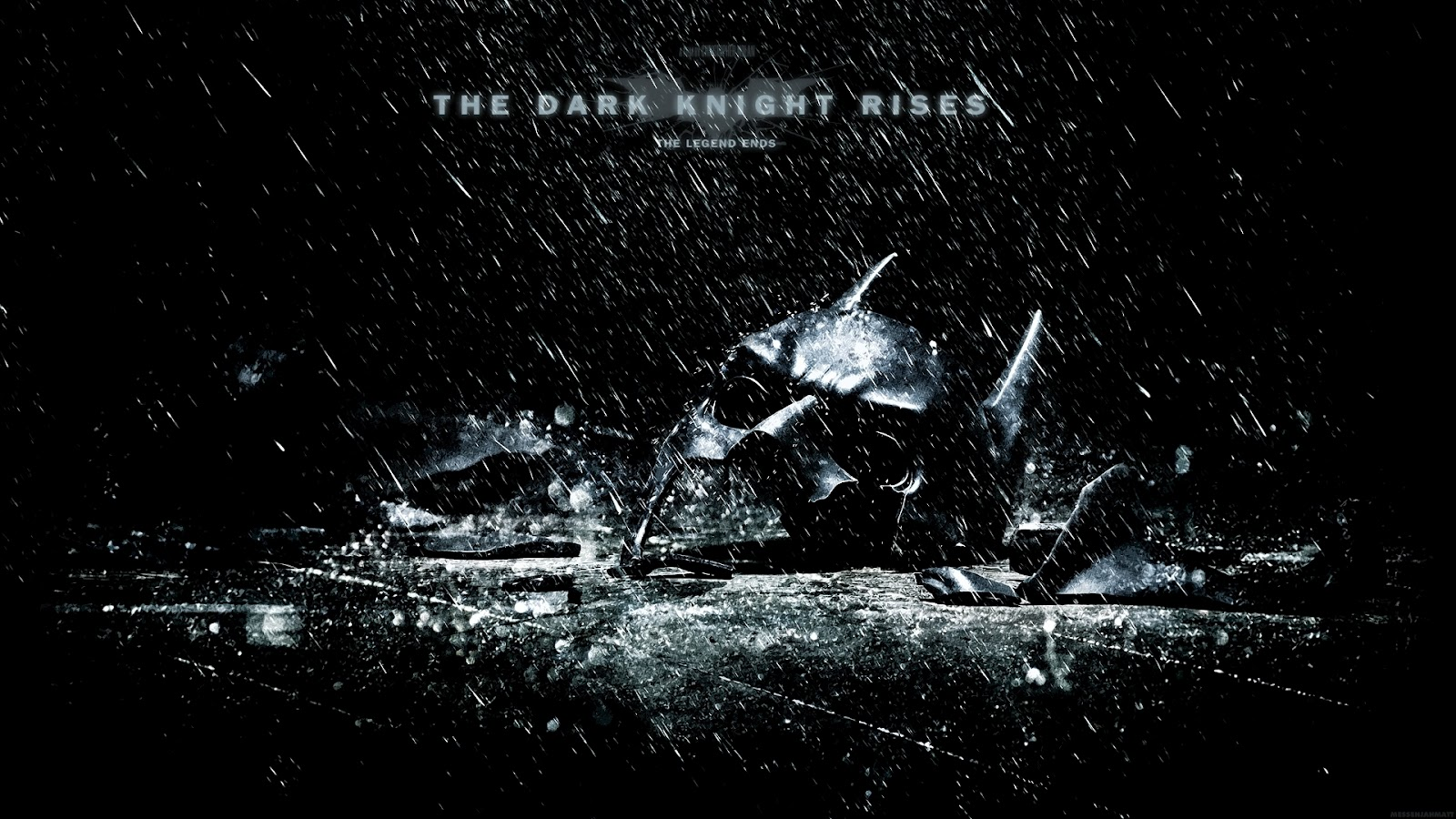 Rendered Bits The Dark Knight Rises Movie Wallpaper 1600x900
