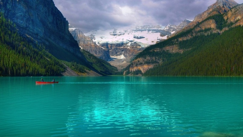 Emerald Lake Louise Canada HD Wallpaper   WallpaperFX 804x452