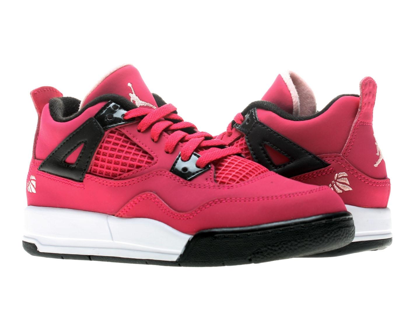 Girls Pink Air Jordan Retro  Basketball Shoes