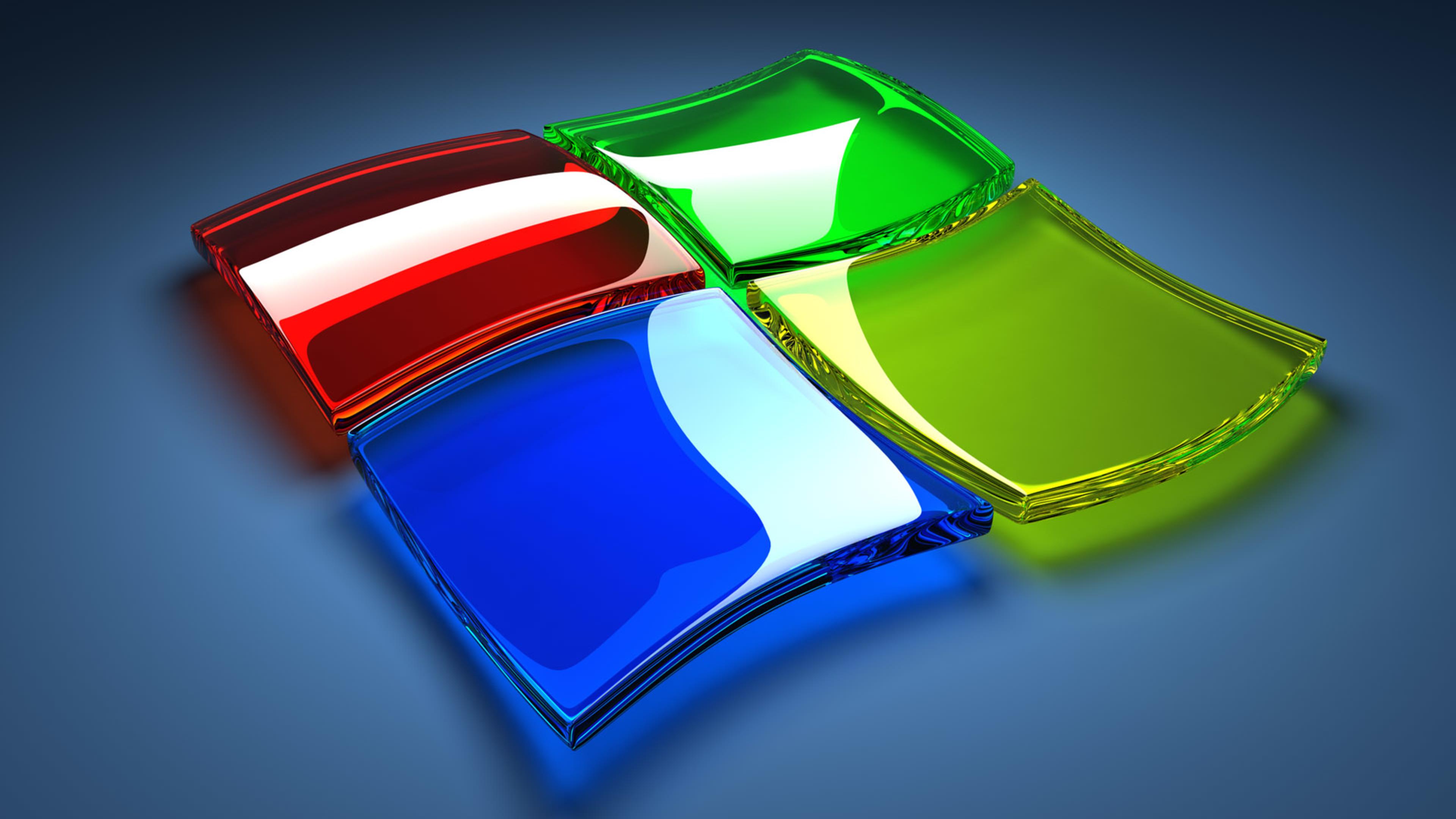 Download Wallpaper 3840x2160 Windows 7 logo   3D Wallpaper 3840x2160