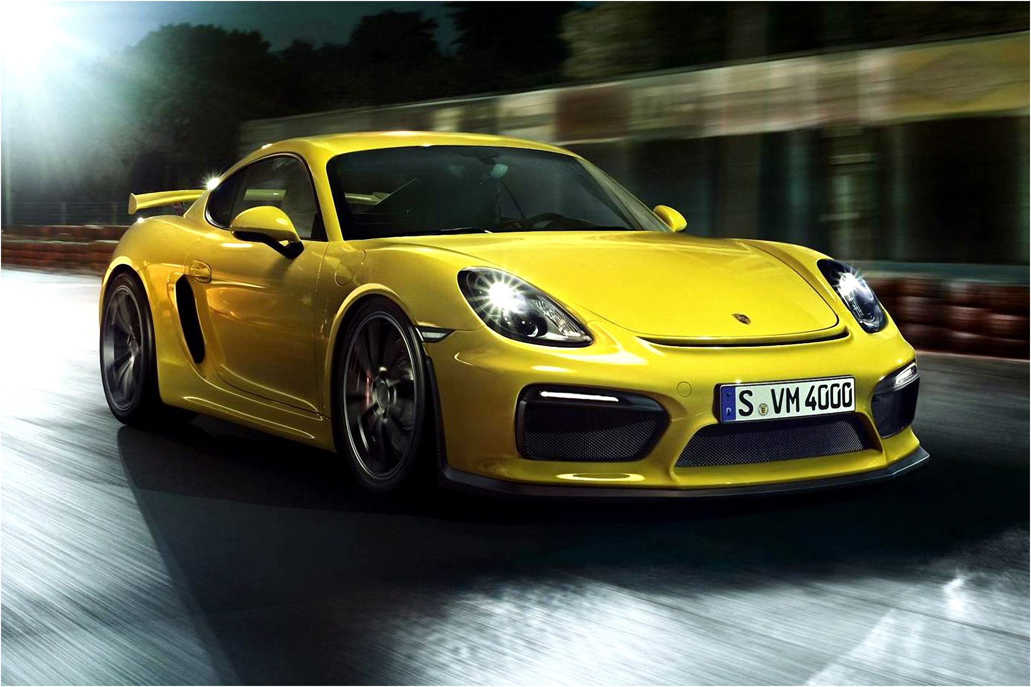 Cayman Gt4 Wall Paper: Porsche Cayman GT4 Wallpaper
