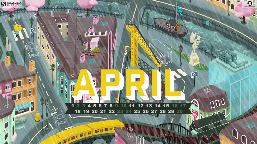 Desktop Wallpaper Calendars April 2016 Smashing Magazine 1000x562
