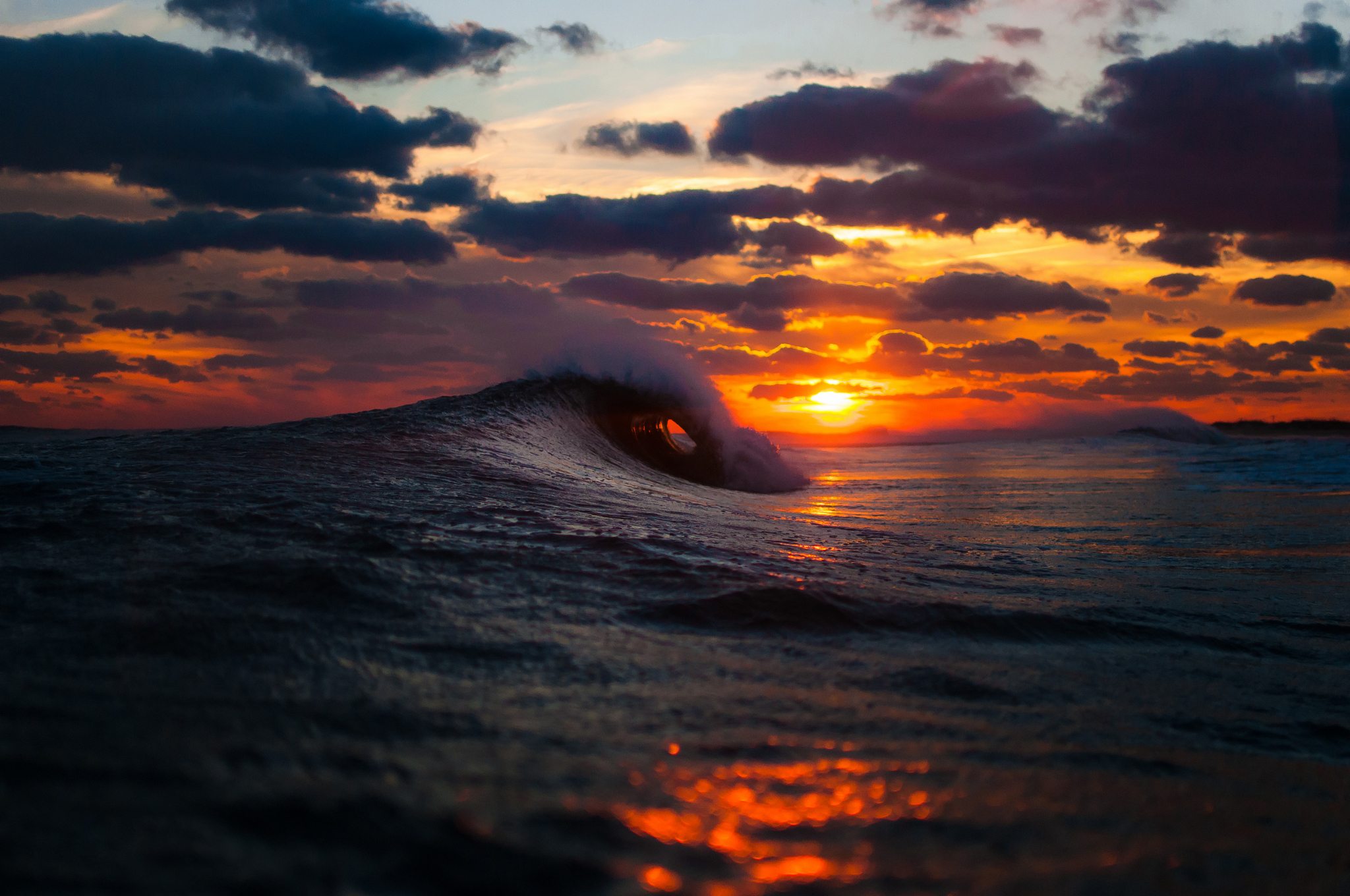 Ocean Waves Sunset Wallpapers   First HD Wallpapers 2048x1360