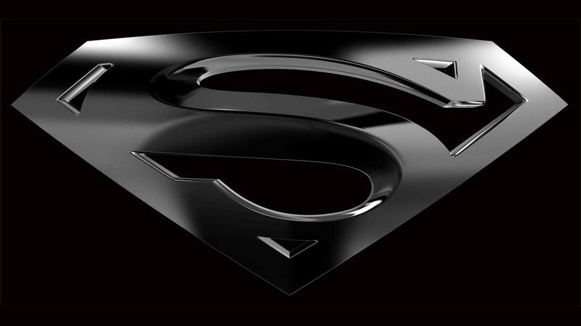 black superman logo wallpaper wallpapersafari