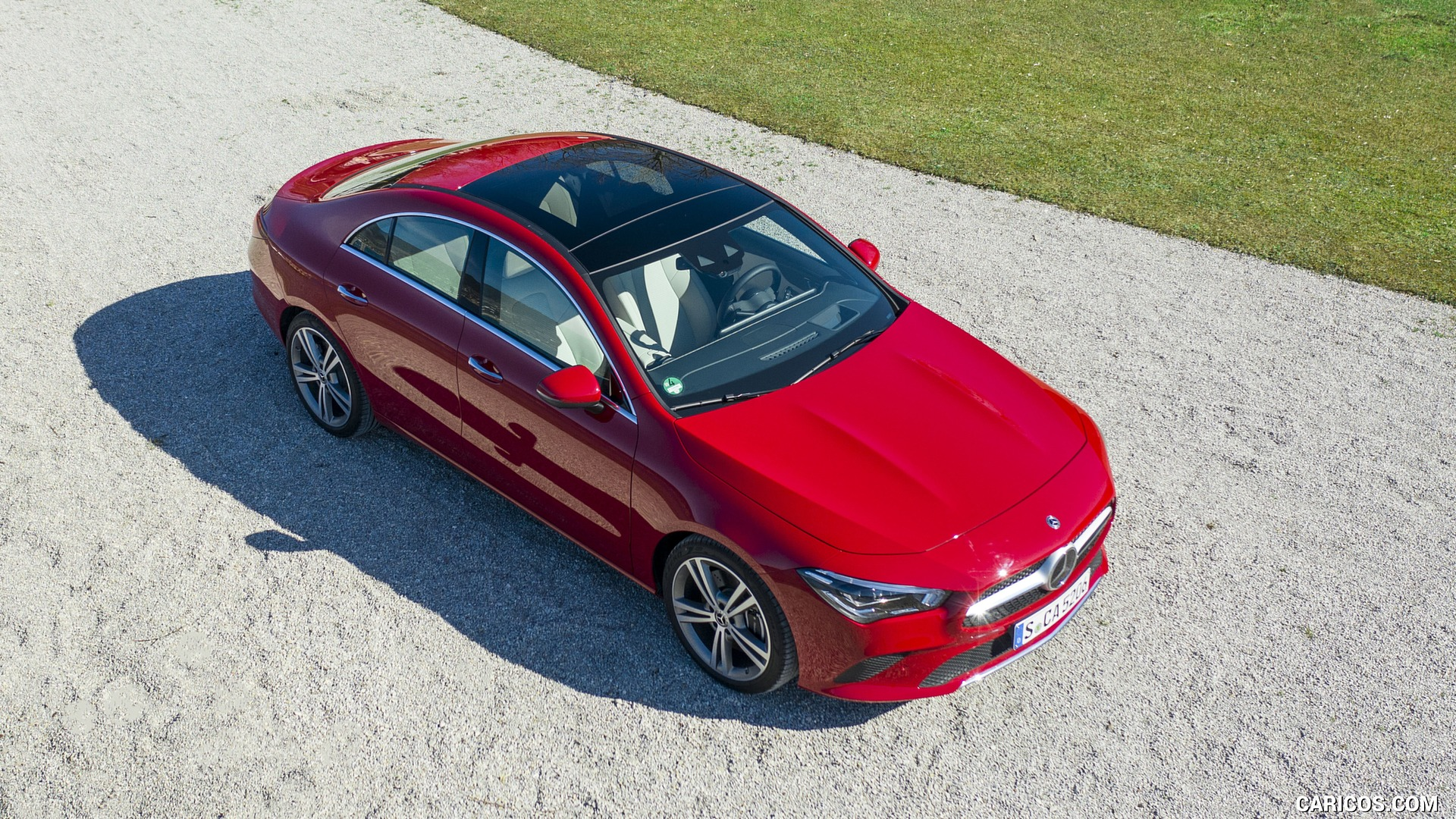 2020 Mercedes Benz CLA 200 Coupe Color Jupiter Red   Top HD 1920x1080