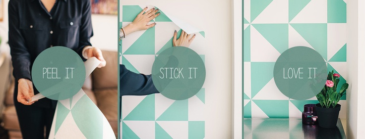 Peel Stick Remove wallpaper Home Decor Projects Pinterest 736x281