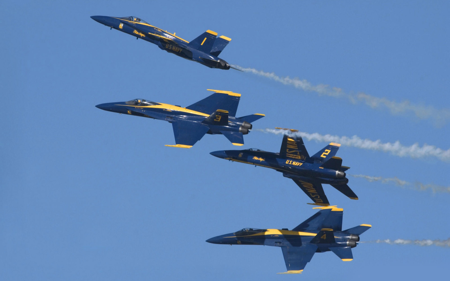The Blue Angels McDonnell Douglas FA 18 Hornets wallpaper   Wide 1728x1080