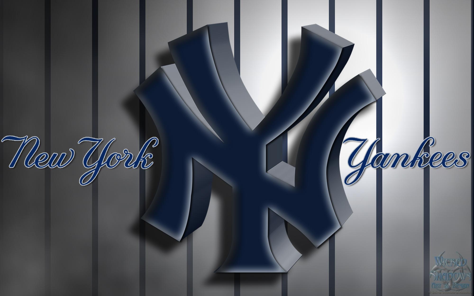 New York Yankees 3D Logo Wallpaper Download Wallpaper 2000x1250