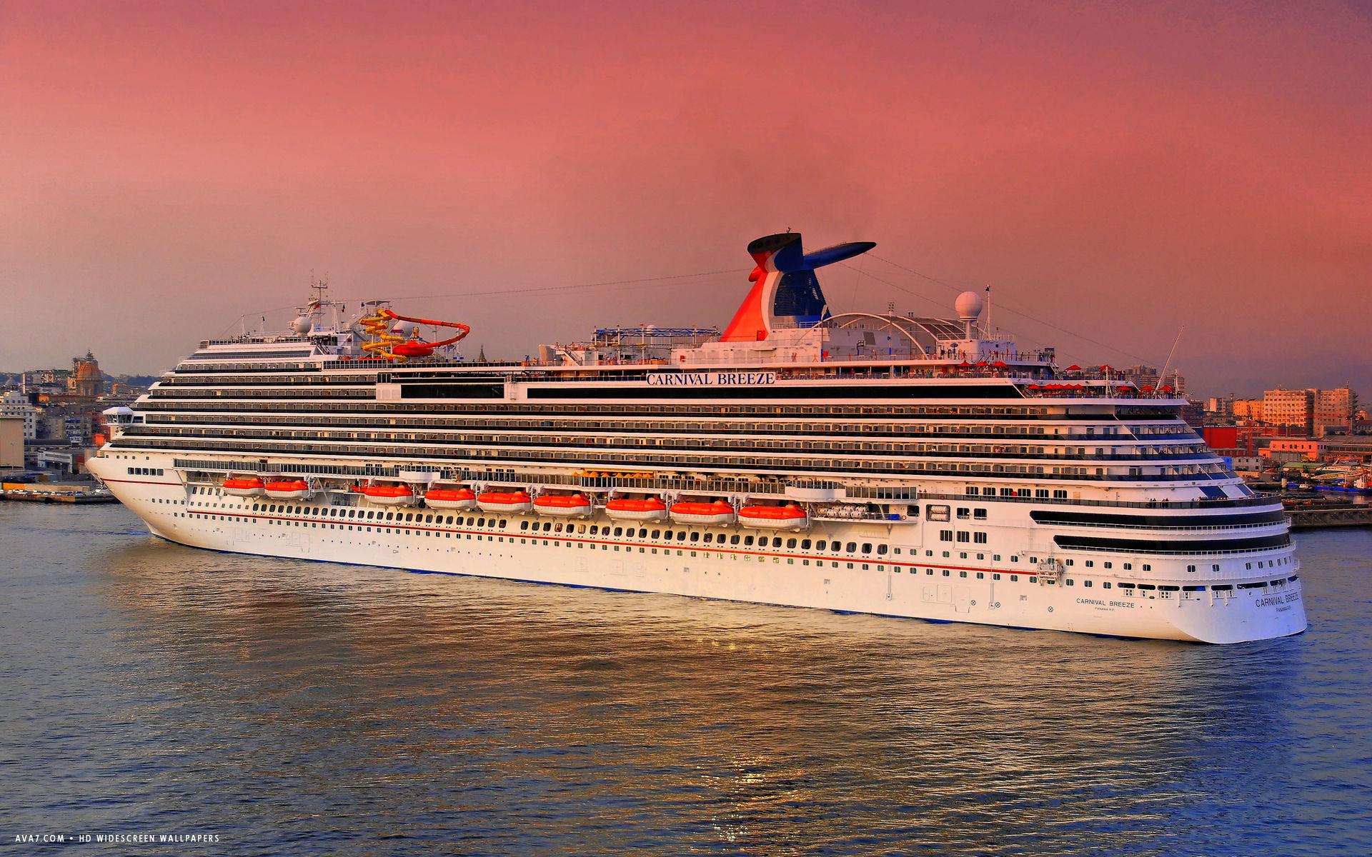 carnival breeze cruise ship hd widescreen wallpaper cruise ships 1920x1200