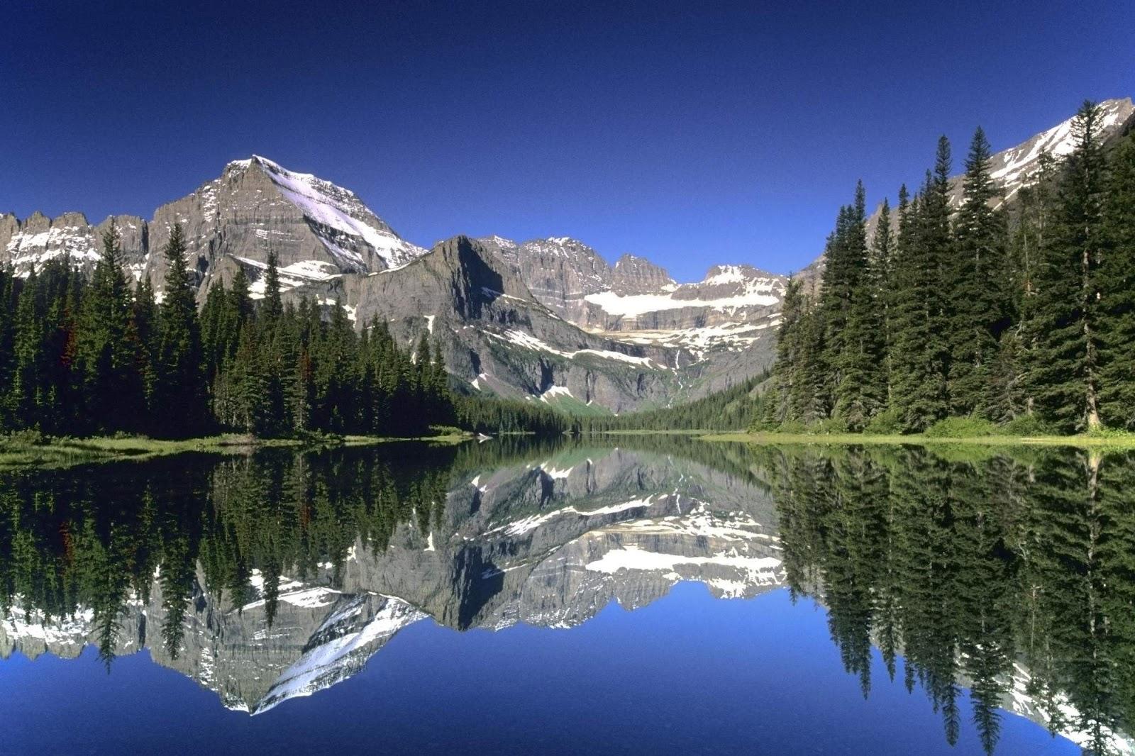 Monochrome mountain lake scenery wallpaper Wallpaper Wide HD 1600x1066