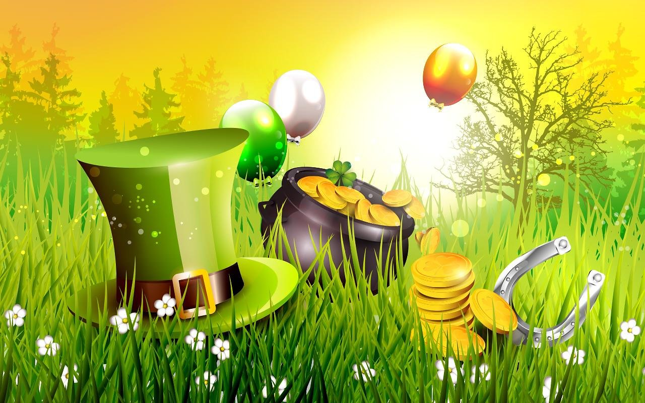 St Patrick`s Day Background   PowerPoint Backgrounds for 1280x800