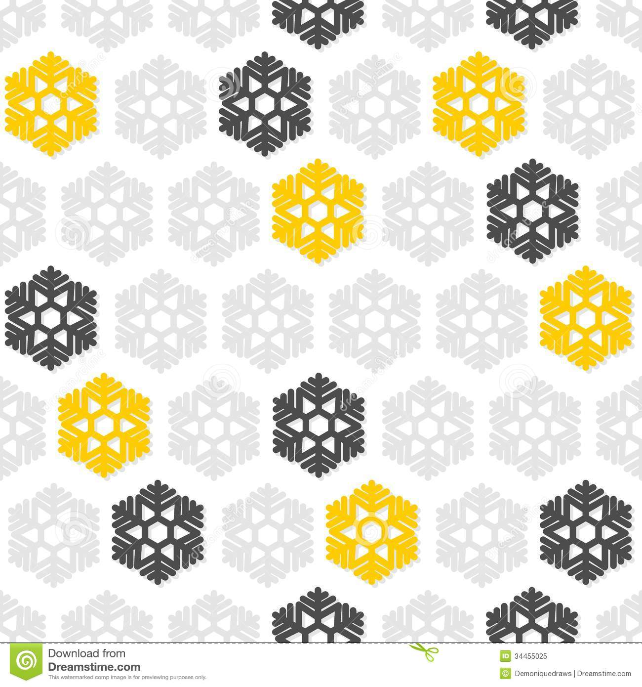 Grey And Yellow Pattern Yellow gray snowflakes on 1300x1390