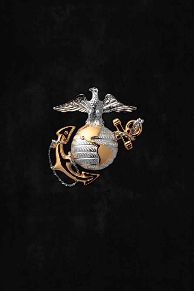 Marine Corps Logo Wallpaper Usmc Marine corps iphone wallpaper 640x960