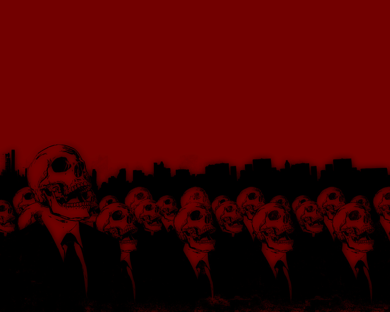 Red Skull Background Red skull army wallpaper 1280x1024