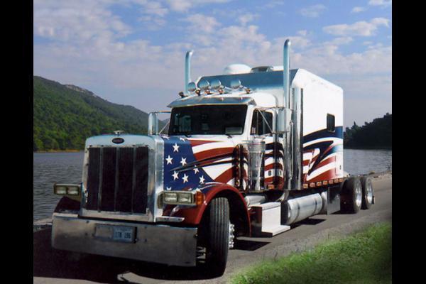 Semi trailer truck Wallpaper 600x400